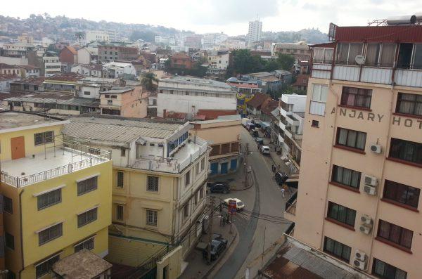 La ville d'Antananarivo prise à partir de ma chambre d'hôtel